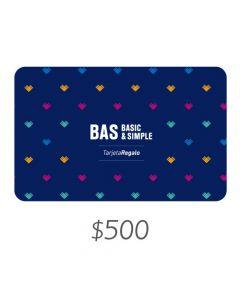 BAS - Gift Card Virtual $500