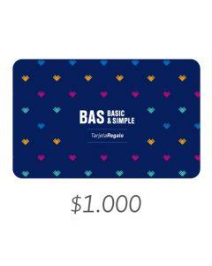 BAS - Gift Card Virtual $1000