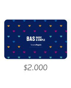 BAS - Gift Card Virtual $2000