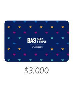 BAS - Gift Card Virtual $3000