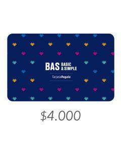 BAS - Gift Card Virtual $4000