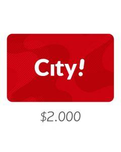 City - Gift Card Virtual $2000
