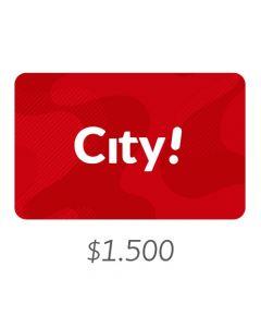 City - Gift Card Virtual $1500