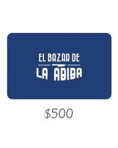 *Solo uso en Argentina* El Bazar de Abiba - Gift Card Virtual $500