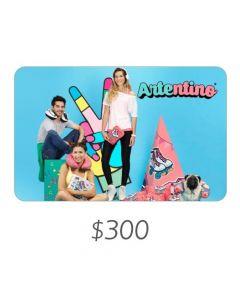 *Solo uso en Argentina* Artentino - Gift Card Virtual $300