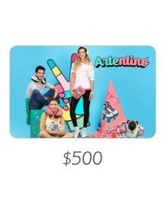 *Solo uso en Argentina* Artentino - Gift Card Virtual $500