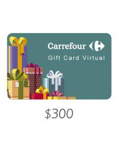 *Solo uso en Argentina* Carrefour - Gift Card Virtual $300