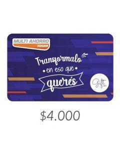 Multi Ahorro - Gift Card Virtual $4000