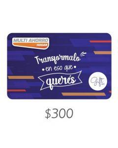 Multi Ahorro - Gift Card Virtual $300