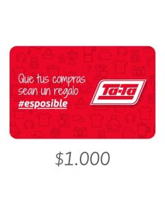 TATA Supermercados - Gift Card Virtual $1000