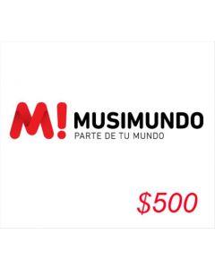 *Solo uso en Argentina* Musimundo - Voucher $500