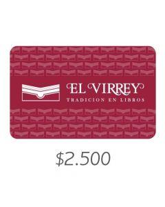 LIBRERÍAS EL VIRREY - Gift Card Virtual $2500